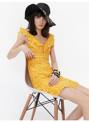 Twist Elbise Sarı
